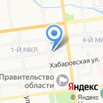 Коммунистическая партия РФ на карте Южно-Сахалинска