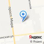 Универсал на карте Южно-Сахалинска