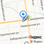 СахСнабАльянс на карте Южно-Сахалинска