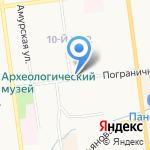 Хлебный Дом на карте Южно-Сахалинска