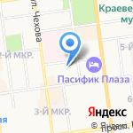Связь-безопасность на карте Южно-Сахалинска