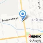 В-Лазер на карте Южно-Сахалинска
