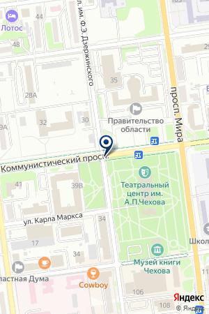 КВК на карте Южно-Сахалинска