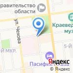 МП Электра на карте Южно-Сахалинска