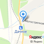 Дачное на карте Южно-Сахалинска