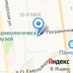 Ателье по ремонту одежды на карте Южно-Сахалинска