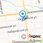 Южно-Сахалинск город как на ладони на карте Южно-Сахалинска