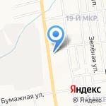 Карандаш на карте Южно-Сахалинска