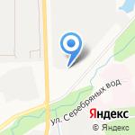 Тепличный на карте Южно-Сахалинска