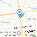 Отдельное Сахалинское окружное казачье общество на карте Южно-Сахалинска
