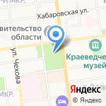Сахалинский международный театральный центр им. А.П. Чехова на карте Южно-Сахалинска