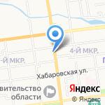 Анюта на карте Южно-Сахалинска