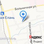 Белый аист на карте Южно-Сахалинска