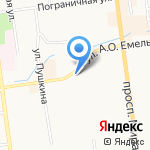 Сахалинский кондитерско-мармеладный комбинат на карте Южно-Сахалинска