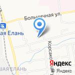 Елань на карте Южно-Сахалинска