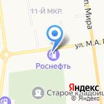 Роснефть на карте Южно-Сахалинска