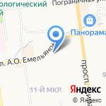 Центральная городская аптека №5 на карте Южно-Сахалинска