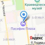 Аэрофлот-Российские авиалинии на карте Южно-Сахалинска