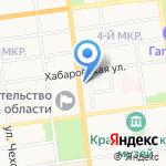 Бриолин на карте Южно-Сахалинска