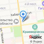 Сахалинская областная организация профсоюза работников связи России на карте Южно-Сахалинска
