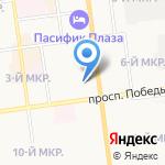 ЖЭУ-2 на карте Южно-Сахалинска