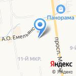 Андаин на карте Южно-Сахалинска