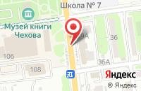 Схема проезда до компании Газета в Южно-Сахалинске
