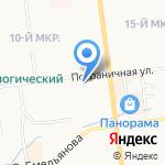 Витрина Плюс на карте Южно-Сахалинска