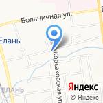 ЖЭУ-13 на карте Южно-Сахалинска