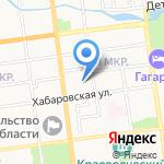 Колокольчик на карте Южно-Сахалинска