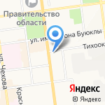Управление Федеральной службы государственной регистрации на карте Южно-Сахалинска