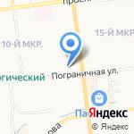 Киоск по ремонту обуви на карте Южно-Сахалинска