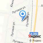 Соколовский на карте Южно-Сахалинска