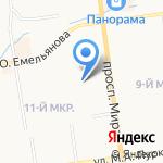 Центр репетиторских услуг на карте Южно-Сахалинска
