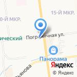 Театральное отделение на карте Южно-Сахалинска