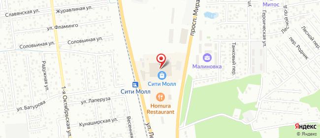 Карта расположения пункта доставки Южно-Сахалинск 2-я Центральная в городе Южно-Сахалинск