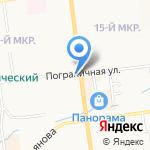 Лотте на карте Южно-Сахалинска