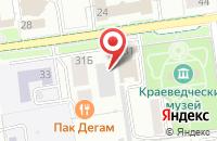 Схема проезда до компании Сила Мысли в Южно-Сахалинске