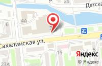 Схема проезда до компании Медиа-Спорт в Южно-Сахалинске