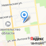 Отдел государственной фельдъегерской службы РФ в г. Южно-Сахалинске на карте Южно-Сахалинска