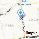 Синдикат на карте Южно-Сахалинска