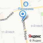 Рост-Мед на карте Южно-Сахалинска