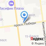 Ундо на карте Южно-Сахалинска