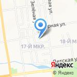 Средняя общеобразовательная школа №4 на карте Южно-Сахалинска
