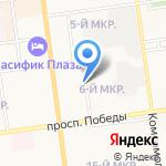 Бизнес-Курьер на карте Южно-Сахалинска