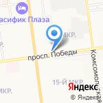 Юнис на карте Южно-Сахалинска
