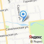 Россия на карте Южно-Сахалинска