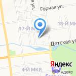 Лучик на карте Южно-Сахалинска