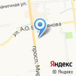 Мару на карте Южно-Сахалинска