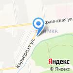 На Карьерной на карте Южно-Сахалинска